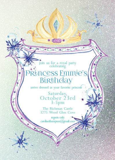 birthday party invitations - Princess Crest Birthday by Carrie Shannon