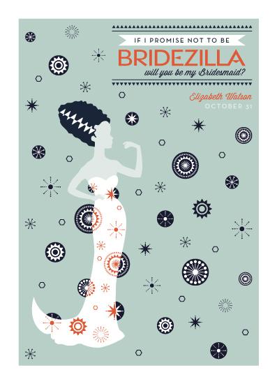 party invitations - Bridezilla Promise by paperBLDG Studio