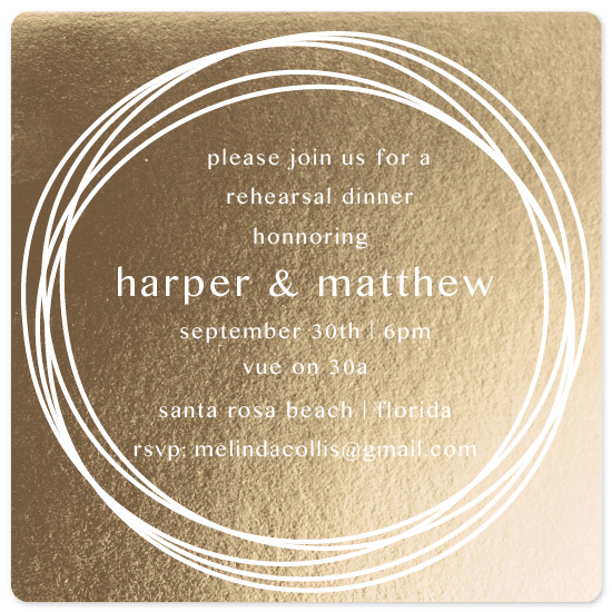 party invitations - Gold Bands by Carrie Shannon