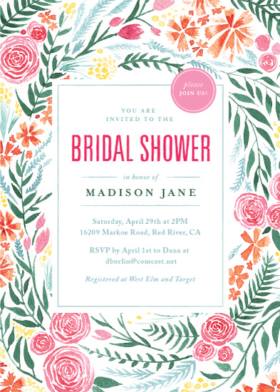 party invitations - Fresh & Fragrant Bridal Shower by Laura Moyer