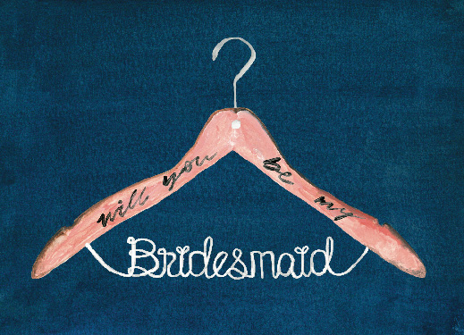 party invitations - bridesmaid hanger by Cass Loh
