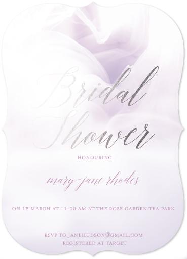 party invitations - chiffon bridal by Cecilia Ferreira