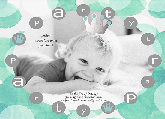 birthday party invitations - little royalty by Cecilia Ferreira