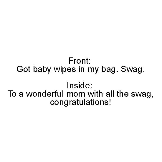 greeting card - Baby Bag Swag by Savvy Collective