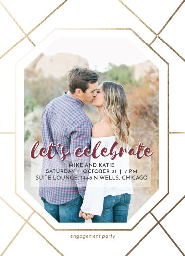 party invitations - Gem Engagement by Ashley Konzen
