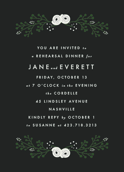 party invitations - Floral Greenery by Ella Weaver