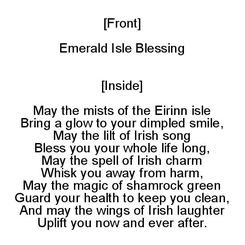 Emerald Isle Blessing WINGS OF LAUGHTER