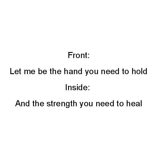 greeting card - A hand to hold by Jo Wiggins