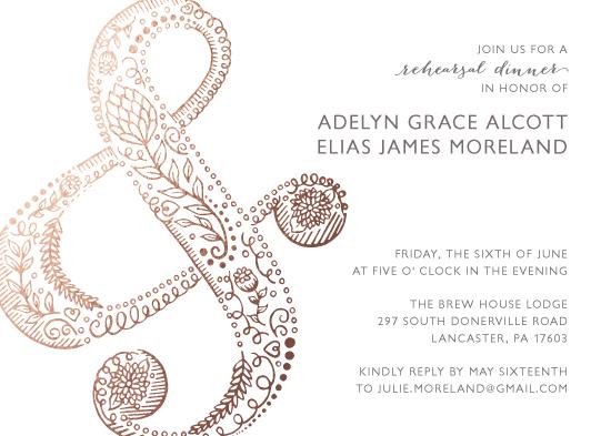 party invitations - Flourishing Ampersand by Jenna Pellman Design