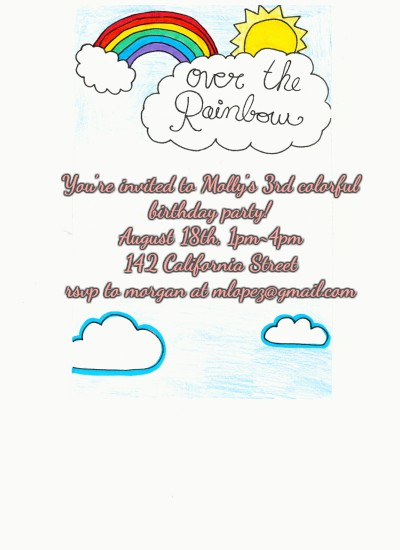 birthday party invitations - Over the Rainbow- Rainbow Themed Party by Grace Z