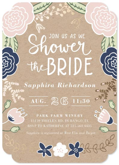 party invitations - Floral Shower by Mabe Design Co.