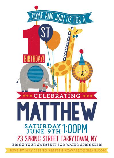 birthday party invitations - Preppy Birthday by Kristen Cavallo