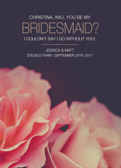 party invitations - Bridesmaid Rose Proposal by Jessica Mighton