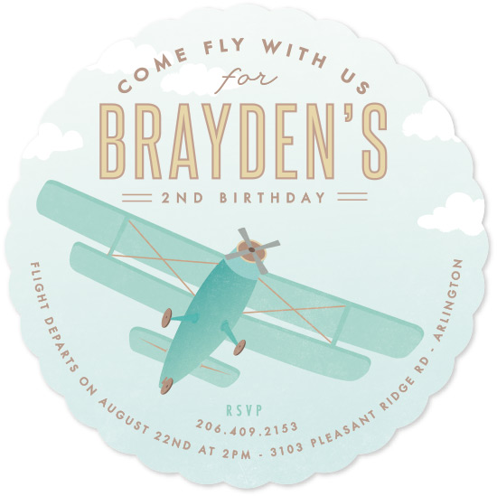 birthday party invitations - Come fly with us by Karidy Walker