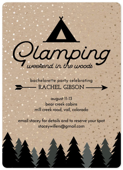 party invitations - Weekend in the Woods by Ashley Konzen