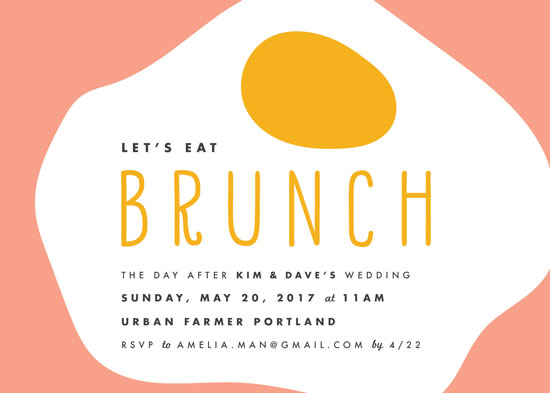 party invitations - Let's Eat Brunch by merry mack creative