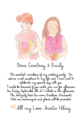 party invitations - Tea with the Flower Girls by Chrissy Johnson