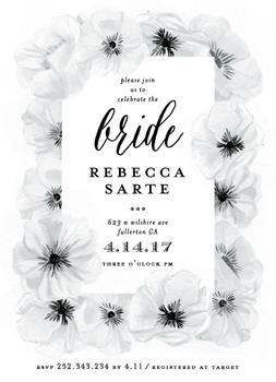 Ink Plate Floral Frame