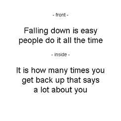 Falling Down is Easy