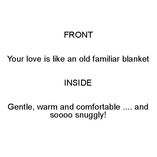 greeting card - Snuggly Blanket by Lee Martin