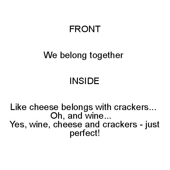 greeting card - Cheese and Crackers by Lee Martin