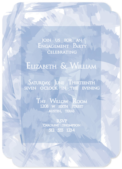 party invitations - Blue Watercolor Willow by Carrie Shannon