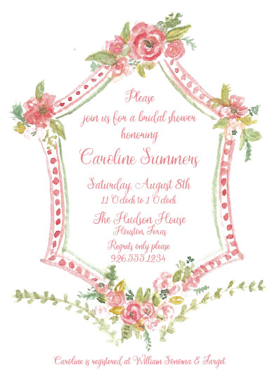 party invitations - Precious Bridal Floral Crest by Carrie Shannon