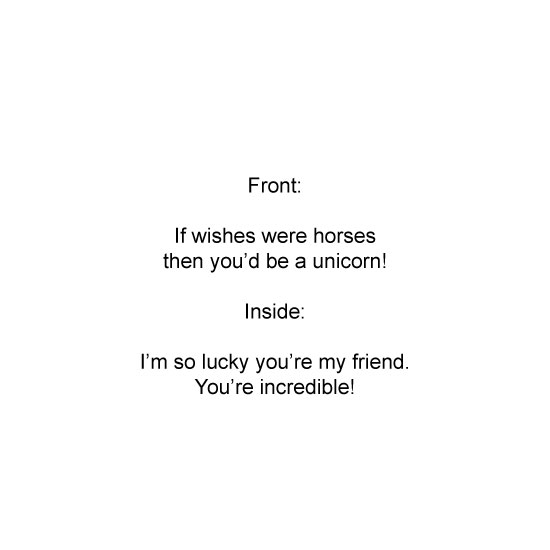 greeting card - Unicorn by raven erebus