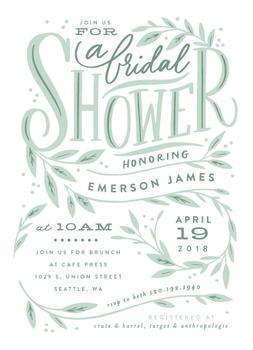 Leaf Framed Shower