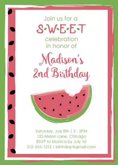 birthday party invitations watermelon birthday at minted com