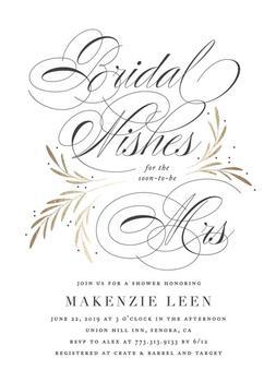 Sweet Bridal Wishes