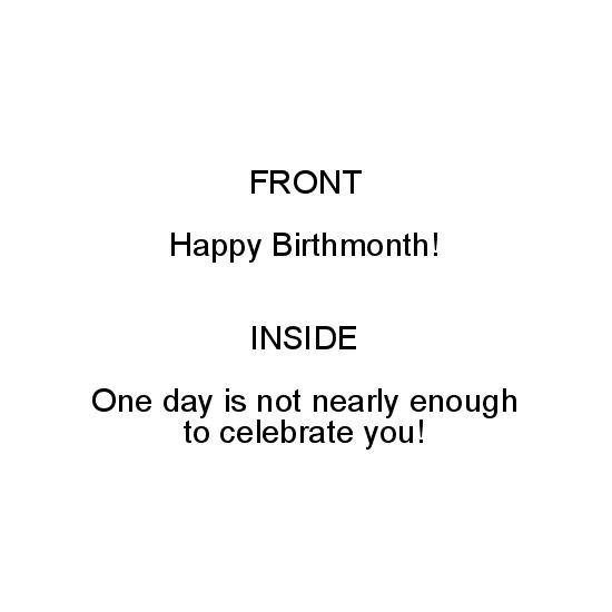 greeting card - Happy birthmonth by Lea Delaveris