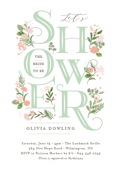 party invitations - Cascading shower by Jennifer Wick