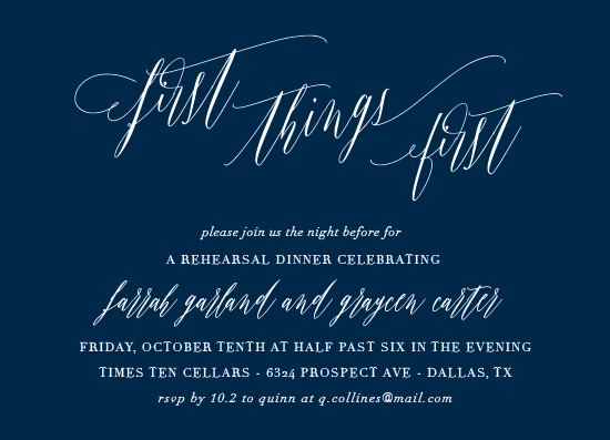 party invitations - First Things First by Kaydi Bishop