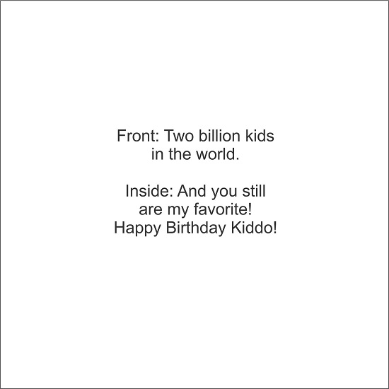 greeting card - 2 Billion Kids by LARA NASCIMENTO