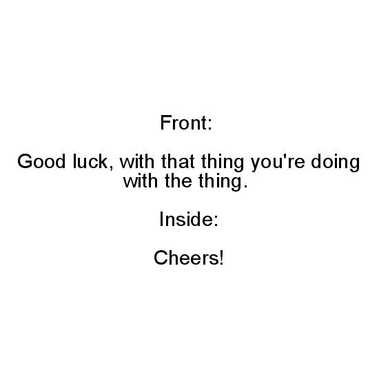 greeting card - Good Luck by Nibby Press