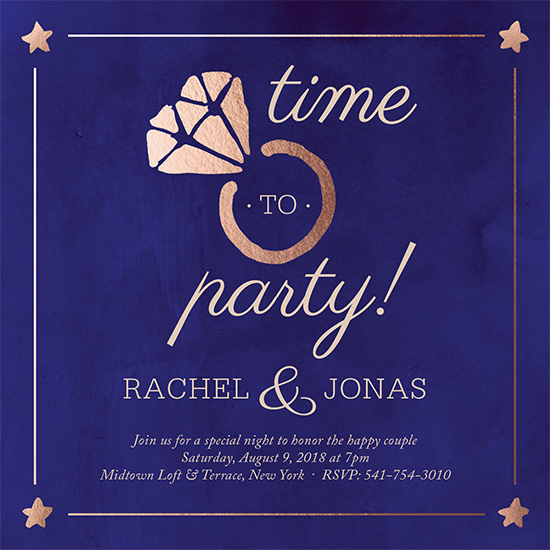 party invitations - Time to Party by Chhaya Joynt