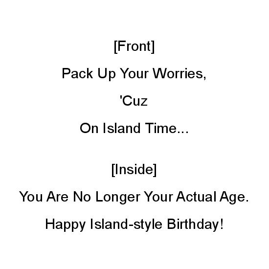greeting card - Island Time's Fountain of Youth by Mariecor Agravante