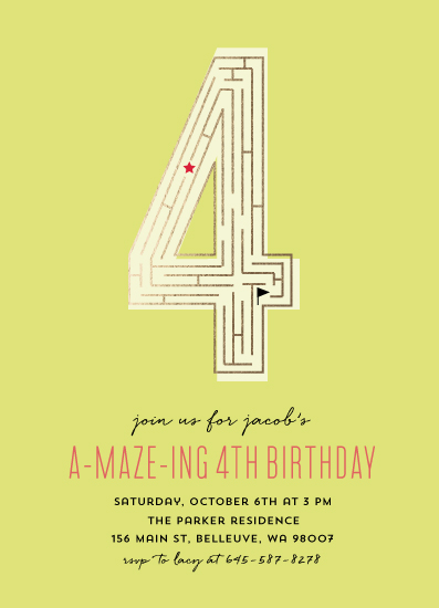 birthday party invitations - A-maze-ing party by Anupama