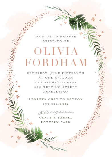 party invitations - Sparkling Ferns by Kristie Kern