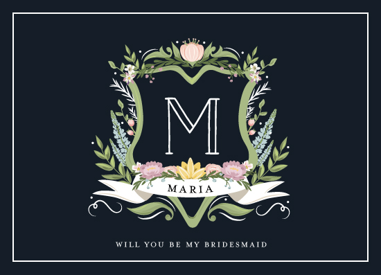 party invitations - Monogramed Bridesmaid by Susan Moyal