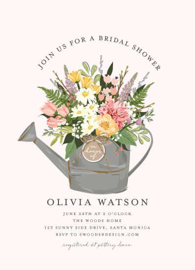party invitations - Flowers & Greens by Susan Moyal