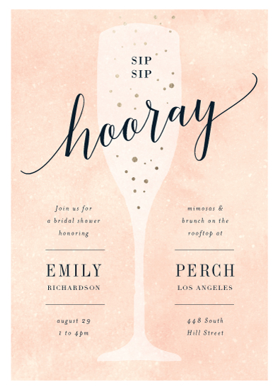 party invitations - Sip Sip Hooray by Kelly Schmidt