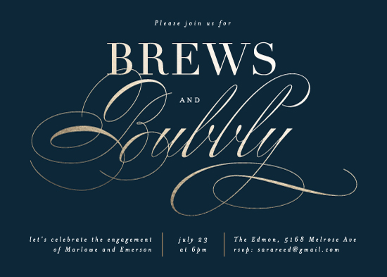 party invitations - Brews and Bubbly by Kelly Schmidt