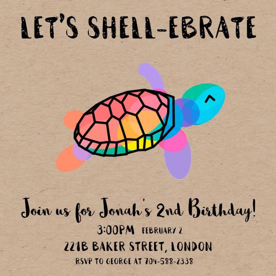 Birthday party invitations lets shell ebrate at minted birthday party invitations lets shell ebrate by satoshi seth filmwisefo