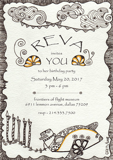 birthday party invitations - Frontiers of flight by ArtLab700