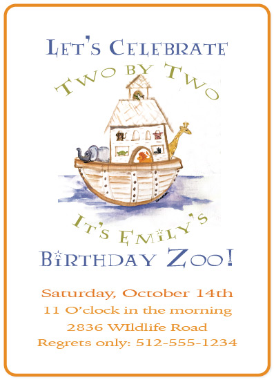 birthday party invitations - Birthday Zoo by Carrie Shannon