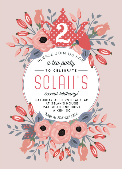 birthday party invitations - Blooming Tea Party by Bess McCullough