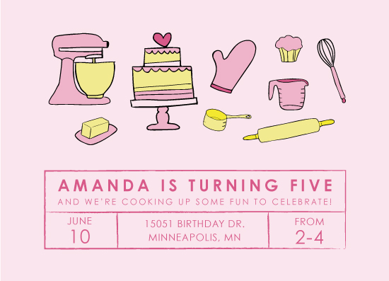 birthday party invitations - Baking Birthday Party by Chrissie Parker