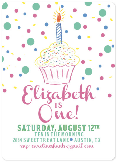 birthday party invitations - cupcake birthday by Carrie Shannon
